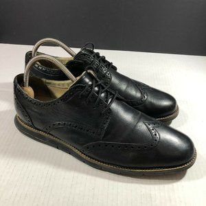 Cole Haan Grand OS Mens Shoes Black Leather Brogue